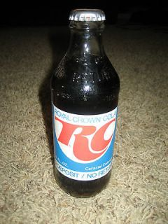 Vintage Royal Crown Cola RC 10 FL Oz Bottle with Paper Label Full and