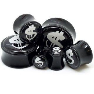 Dollars Ear Plugs Ear Gauges Custom Tattoo Design ~ Sold in a Pair