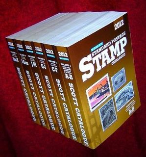 2012 SCOTT STAMP CATALOGUE WORLD COMPLETE 6 VOLUMES 1 6 in COLOR NICE