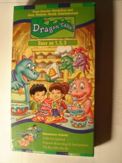 SESAME WORKSHOP & SONY Dragon Tales   Easy as 1, 2, 3 RETIRED VHS