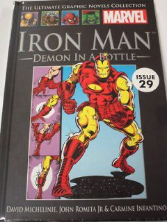 MARVEL ULTIMATE GRAPHIC NOVEL COLLECTION #29 IRON MAN HARD COVER. FREE