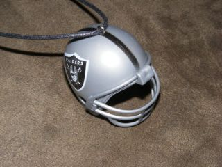 Oakland Raiders NFL Helmet Pendant Necklace Jewelry Car Mirror Hanger