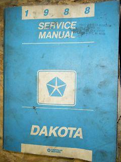 Newly listed 1988 DODGE DAKOTA TRUCK FACTORY SERVICE MANUAL 88 SHOP 2