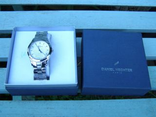 FRANKLIN MINT DANIEL HECHTER PARIS MENS WRIST WATCH SWISS MOVEMENT