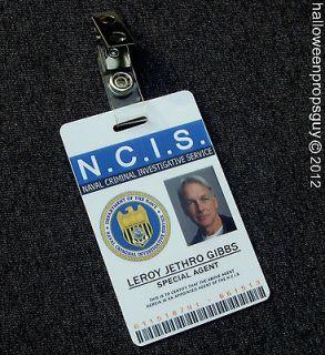 NCIS Special Agent Leroy Jethro Gibbs PVC ID Card Badge
