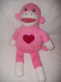 Dan Dee Large Pink Sock Monkey Plush Doll