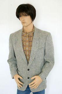 Canadian Harris Tweed Blazer Jacket Indie Retro Gent Dapper Dr Who 42