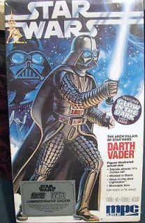 MPC Ertl Darth Vader Light Saber Glows Star Wars 8154 Model Kit Made