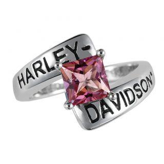 Davidson Silver Crossroads Birthstone Ring   October Pink Topaz   NEW