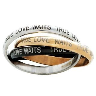 True Love Waits Triple Band Purity Ring