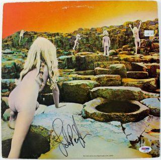 JOHN PAUL JONES LED ZEPPELIN SIGNED ALBUM COVER W/ VINYL PSA/DNA #