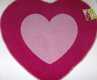 Circo Heart Shaped Accent Throw Rug Pretty Pink Peace Girl Non Skid