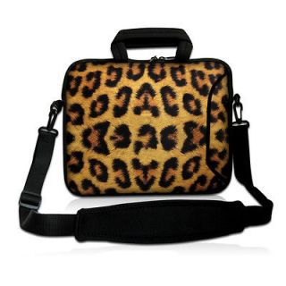 15 Leopard Print Laptop Shoulder Bag Case For 15.6 Dell Inspiron
