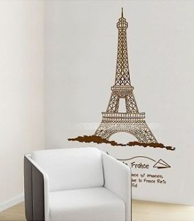 WALL DECAL ART Mural DECOR STICKER paris Eiffel Tower big room tv