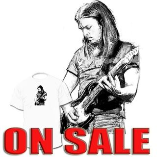 David Gilmour Guitar T shirt Pink Floyd Roger Waters Drawings Ar