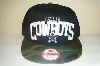 Dallas Cowboys NEW ERA 9fifty Camouflage Snapback HAT Authentic Cap