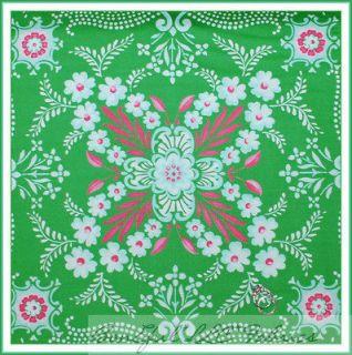 BonEful Fabric FQ Paganelli Pink Green Girl John Deere Damask Pretty