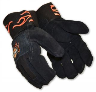 Harley Davidson Leather Kevlar Work Gloves