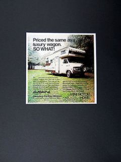 Gladding Del Rey Mini Motor Home RV dodge chassis 1973 print Ad