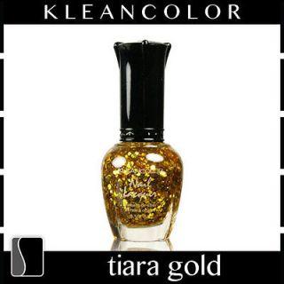 KleanColor Nail Polish Lacquer Tiara Gold Top Coat Clean Manicure