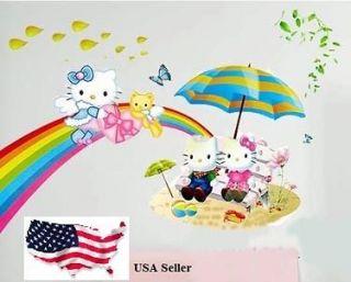 KITTY wall sticker Vinyl Decal Decor Removable Nursery Kids Art Baby