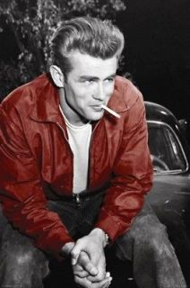 James Dean Red Jacket Cigarette Celebrity Poster A6672