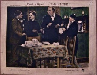 23 LC CHARLIE CHAPLIN SWIPES THE DEACONS HAT SILENT COMEDY