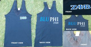 Zeta Phi Beta Short Sleeve V neck Tank Top Zeta Phi Beta T shirt BLU