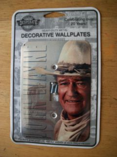 john wayne decorative wall plate/ light switch the duke