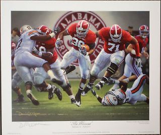 ALABAMA FOOTBALL The Blowout signed print by Daniel Moore