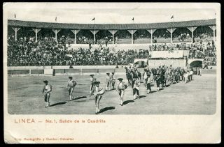 975   Spain LINEA Salida de la Cuadrilla Corrida Stadium Bullfighting