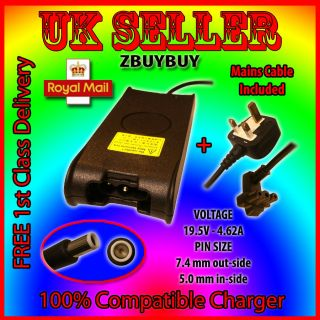 DELL Latitude E5420 E5500 E5510 E5520 Adapter Charger + mains cable