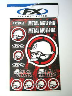Factory Effex Metal Mulisha Graphics Decals Stickers Sticker Sheet