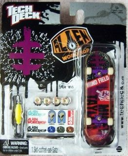 ALIEN WORKSHOP Tech Deck 96 mm Fingerboard MIND FIELD Purple Trucks