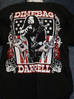 DIMEBAG DARRELL Guitar Flag Black T Shirt Official Bravado New Size L