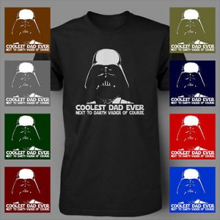Darth Vader Coolest Dad Ever Funny Fathers Day Star Wars movie Mens T