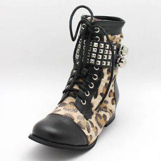 FDW Womens New Abbey Dawn Avril Lavigne Wild Child Combat Leopard