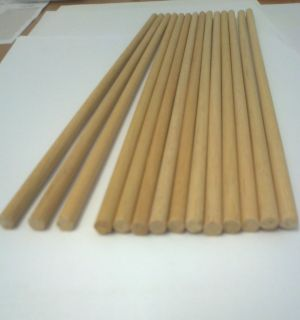 WOODEN DOWEL RODS 12MM DIAMETER FOR CRAFT AND MANY OTHER USES