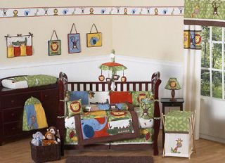 Newly listed SWEET JOJO DESIGNS ANIMAL JUNGLE SAFARI 9p BABY BOY CRIB