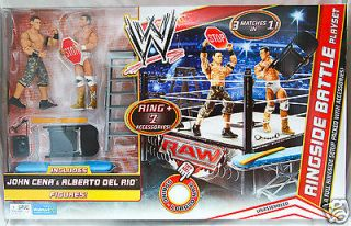 John cena & alberto del rio ringside battle playset wwe wwf action