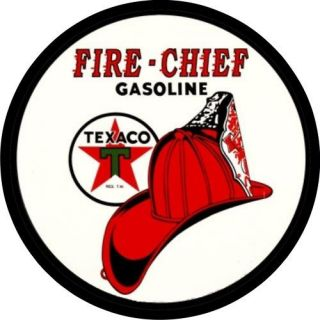 Vintage Texaco Fire Chief Gas Oil Decal