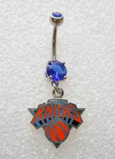NY NEW YORK KNICKS BASKETBALL Navel Belly Button Ring BODY JEWELRY