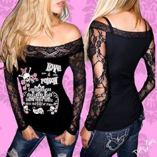 DIY DEMI LOON Skull Goth Punk Cute Sheer Lace Tattoo Rockabilly Sexy
