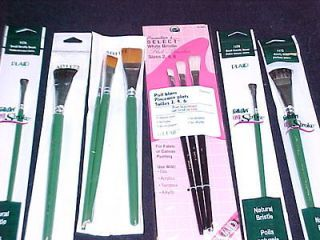 Donna Dewberry One Stroke 7 Brushes 3 Painters Select Plaid Brushes