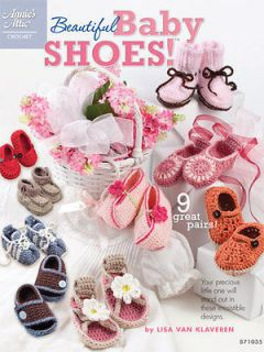 CROCHET PATTERN BOOK BEAUTIFUL BABY SHOES 9 DESIGNS BOYS GIRLS BOOTIES