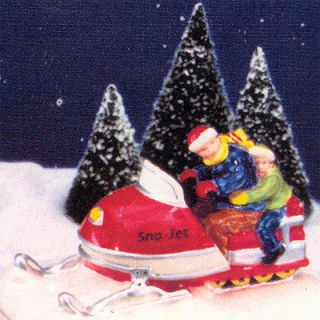 DEPT 56 SNOW VILLAGE SNO JET SNOWMOBILE RETIRED #51594