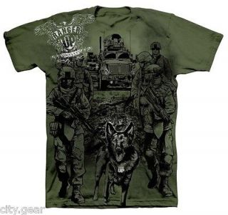 RANGER UP K9 FIGHT IN THE DOG ARMED FORCES MILITARY SHIRT SZS: S, M, L