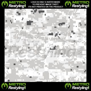 Digital Snow Camouflage Vinyl Decal Wrap Sheet 60x48