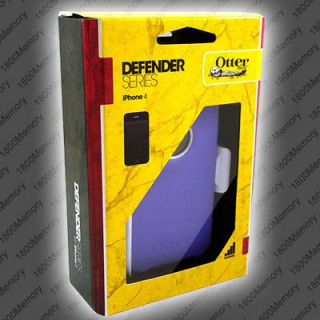 GENUINE OtterBox Defender Case for Apple iPhone 4 4S Purple White