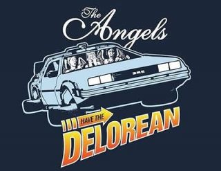 Dr. Who Weeping Angels Drive Delorean Parody Teefury Ladies Shirt